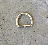 D-ring, silver, 20 mm